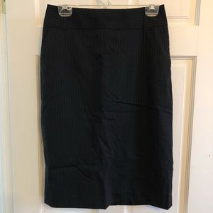 pinstripe Banana Republic pencil skirt